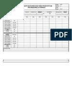 Formato de Inspeccion Para Mecanismos de Traccion