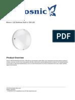 Kosnic tech sheet Light Fixture