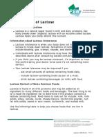 Food source lactose