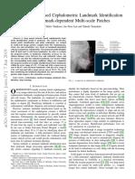 Deep Learning Based Cephalometric Landmark Identif