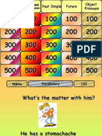 Revision Jeopardy for Final Exam