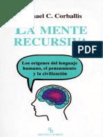 La mente recursiva - M. C. Corballis.pdf
