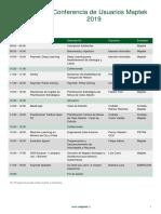 XIX Conferencia Usuarios Maptek 2019