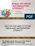 0the World of Media and Information Literacy