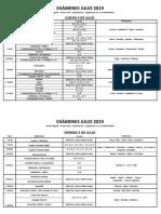 Mesas Examenes Julio 2019