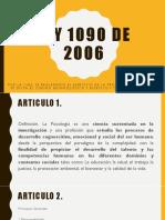 Ley 1090 de 2006. PPT