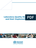 Laboratory Quality Standards and Their Implementation