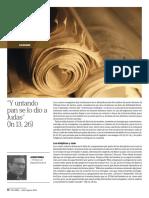 """""""Y untando pan se lo dío a Judas"""" (Jn 13,26) Palabra nº 680-681 Julio-Agosto 2019, pág. 72-73"""