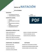 CLÍNICA PROVINCIAL DE NATACIÓN                  MODULO 1