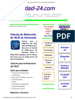 Cálculo de Retención de ISLR en Venezuela _ Actualidad-24.Com