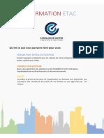 Catalogue Des Formations ETAC