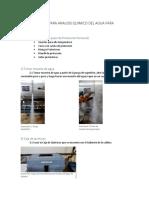 Procedimiento Para Analisis Quimico Del Agua Para Calderas