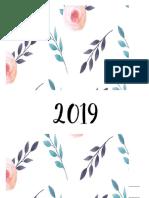 Calendario 2019 - Sin Cuadros