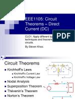 CLO1 Circuit Theorems in DC (Std)