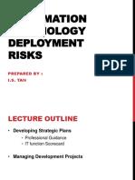 Chapter 4 Information Technology Deployment Risk
