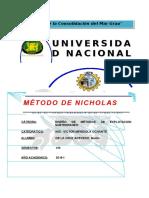 Método de Nicholas - Universidad Nacional