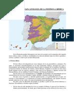 Comentario Mapa Litología de La Península Ibérica