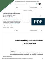 Fundamentos y Generalidades de Investigación Fase 1 Fundamentación _ Cuestionario _ Método Científico