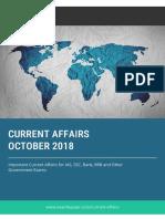 Current Affairs by Exambazaar October 2018