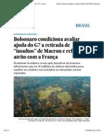 Noticia Bolsonaro Amazonia