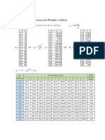 Mathcad - 0-B. Weight and Area of Rebar