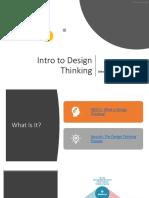 intro to design thinking