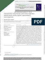 Green Sintesis Dan Karakterisasi Dari Silver Nanopartikel