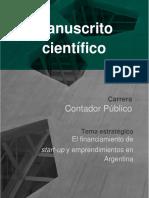El Financiamiento de Start Ups y Emprendimientos en Argentina