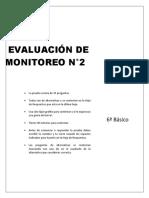 Evaluacion de Monitoreo Lenguaje 6basico
