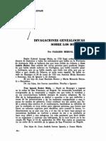 Divagaciones Genealogicas de Los Botero