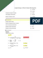 Mathcad - 14-Design of Short Column (Rectangular)