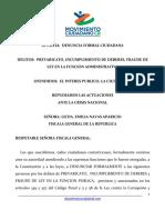 PREVARICATO, INCUMPLIMIENTO DE DEBERES, FRAUDE DE LEY EN LA FUNCION ADMINISTRATIVA