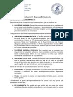 Clasificacion de Empresas en Guatemala
