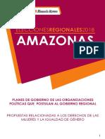 Análisis de planes de gobierno - Región Amazonas