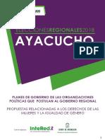 Análisis de planes de gobierno - Región Ayacucho