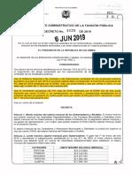 Decreto 1028 Del 06 de Junio de 2019
