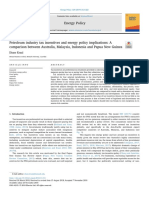 Petroleum industry tax incentives and energy policy implications