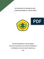 Standar Operasional Prosedur Struktur Bengkel