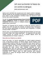 20190611 Comment Sanofi Veut Surmonter Le Fiasco Du Vaccin Contre La Dengue