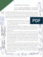 Declaración de Ayacucho- Agricultura familiar y Cambio Climatico