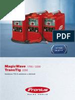 Fronius TT MW catalogue