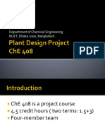 Che 408 Plant Design Project September 2017