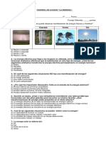 Control de avance energía 5° 2015