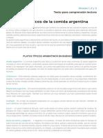 Platos Tipicos de La Comida Argentina
