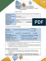 Guía de actividades y rúbrica de evaluación - Fase 5 - Muestra Final