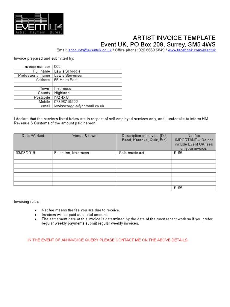 Lewis Scroggie Invoice 002