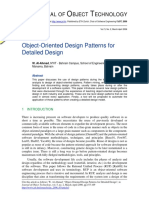 Object-Oriented Design Patterns for Detailed Design