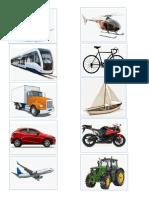 Medios de Transporte, Barco, Tren, Camion, Carro Avion, Helicoptero, Bicicleta