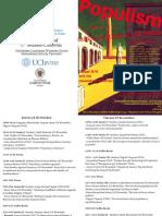 Programa Populism Across Ethics, Aesthetics, And Politics