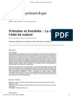 Primates et Sociétés